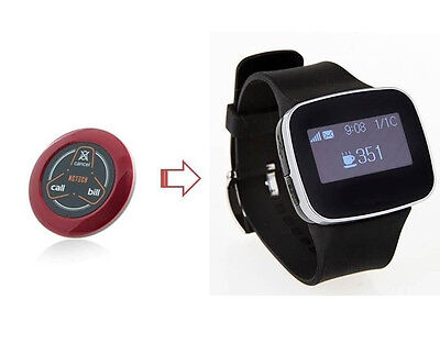 10+3 Call Pager Wireless Restaurant Calling System Watch Receiver