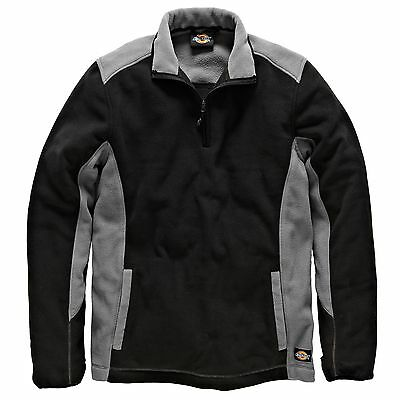 Dickies Two Tone Polyester Mechanics Micro Fleece Grey / Black - Small (S)