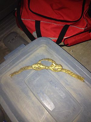 "Early 14"" Brass Bow Pediment"