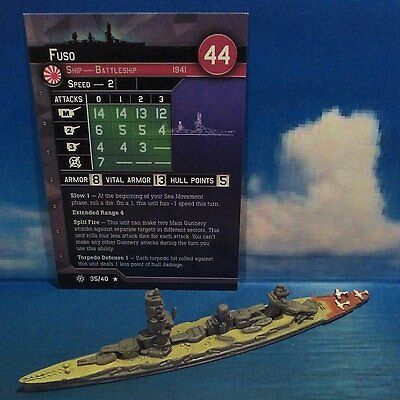 Axis & Allies War at Sea: FUSO #35/40 (Condition Zebra)
