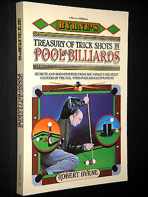 Byrne;  ~  TREASURY OF TRICK SHOTS IN POOL & BILLIARDS  ~  1982;  softcover; New