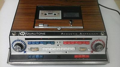 Qualitone Accoustic Appraiser AUDIOMETER HEARING TESTER AIDE WORKING VINTAGE SET