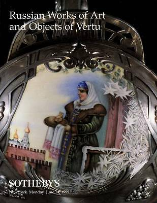 Sotheby's Russian Works Of Art & Vertu:  Faberge , Russian , Icons , Imperial +