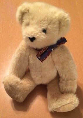 The Vermont Teddy Bear Company Jointed Bear with Ribbon from 1995