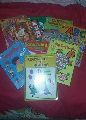 Vintage Whitman Coloring Book Lot of 8 1970s