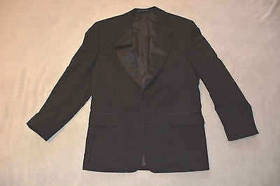 Jones New York 100% Wool Black Tux Tuxedo Two Button Jacket ~ Size 40R