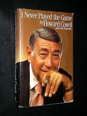 Cosell, Howard;  ~ I NEVER PLAYED THE GAME ~  1985;  HC/DJ;   true 1st/1st;  VG+