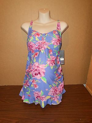 New Oh Baby Maternity Tankini Top  Size L  Floral Top Swimsuit Large
