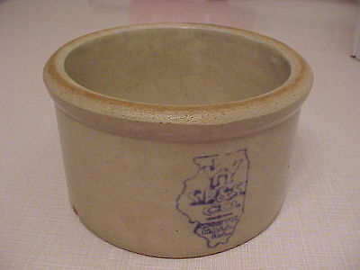 Rare Vintage S. P. & S. Co. White Hall Illinois Stoneware Butter Crock