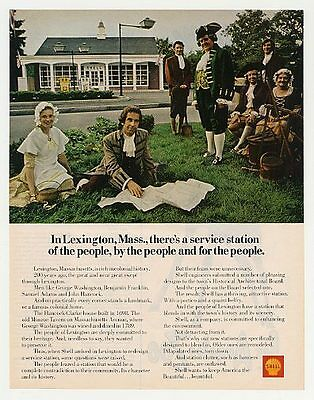 1970 Shell Lexington MA Colonial Service Station Ad