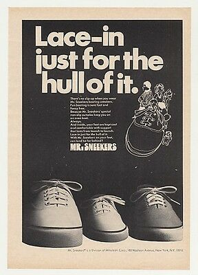 1969 Mitsubishi Mr. Sneekers Boating Sneakers Print Ad