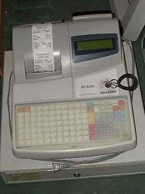 Sharp Electronic Cash Register Xe-A302 With Advanced Programming & Cash Drawer