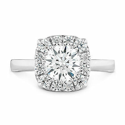 1.10 Ct Diamond Engagement Rings 14kt White Gold VVS1Size 5 Brilliant Round 573