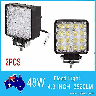 2x 48W LED Light Bar Driving Work Lamp Flood Truck Offroad UTE 4WD