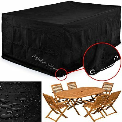 Weatherproof Garden Outdoor Patio Large Furniture Rattan Cube Rain Cover Protect