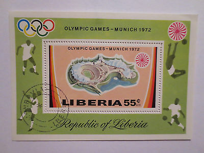 Munich Germany 1972 Olympic Games Official Postage Stamp