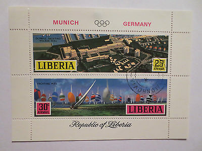 Munich Germany 1972 Olympic Games Village Official Set Of Postage Stamps