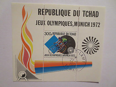 Munich Germany 1972 Olympic Games Cycling Official Postage Stamp