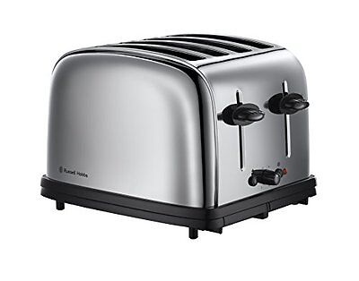 Russell Hobbs 1376756 Grille-Pain Rétro 4 Fentes 1800 W Inox NEW