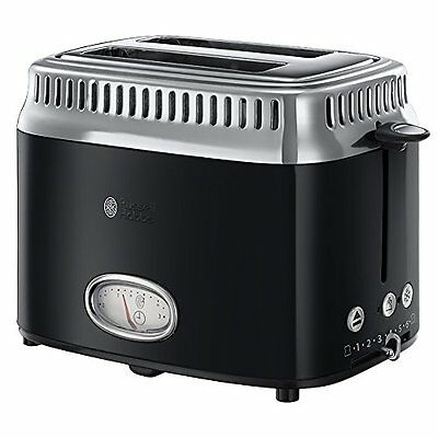 Russell Hobbs 21681-56 Grille-pains 2 fentes Noir  1300 W NEW