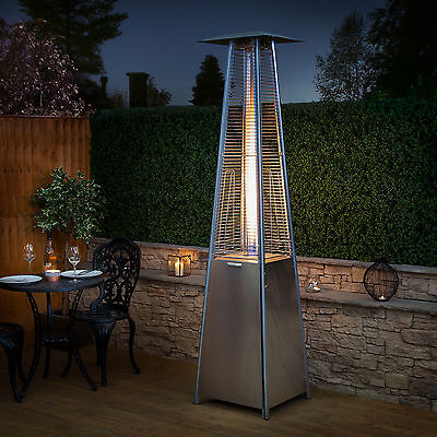 Fire Mountain Living Flame Gas Patio Heater in Stainless Steel