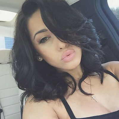 Heat Resistant Lace Front Wigs Short Wavy Curly Synthetic Hair Wig  Natural Look