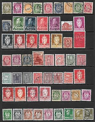 NORWAY Interesting Early Used Issues Selection (Dec 0410)