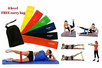 Resistance Exercise Loop Bands Home Gym Fitness Squat Training & Yoga Stretch