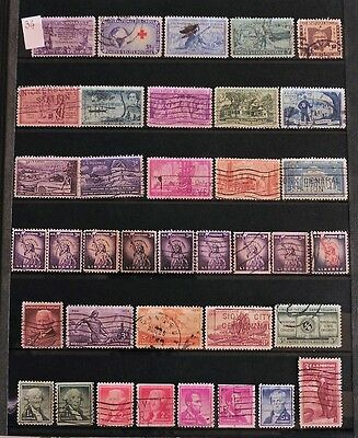 Lot n° 34  :  37 Timbres USA