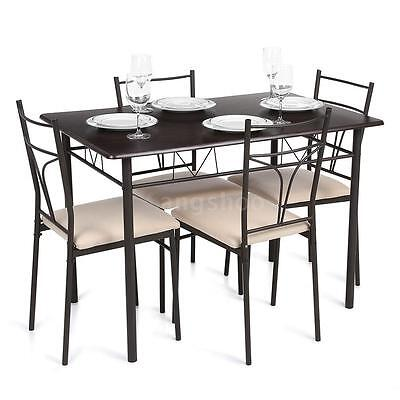 Ensemble tables et chaises - salon cuisine terrasse table manger -Set 5 pcs B5X5