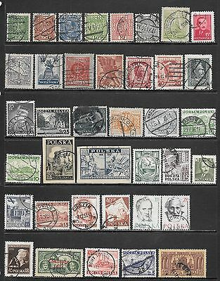 POLAND Small Interesting Early Used Issues Selection (Dec 0411)
