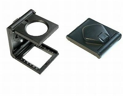 LED Thread Counter Magnifier foldable Stand magnifier Postage stamps Coins