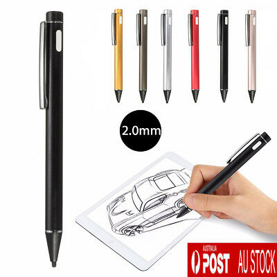 Universal 2.0mm Active Stylus Capacitive Touch Screen Pen for iPad 4 Samsung AU
