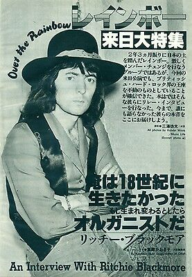 Rainbow / Ritchie Blackmore - Clippings From Japanese Magazine Music Life 7/80