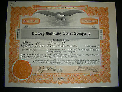 Victory Banking and Trust Company, Girardville, PA; 1925