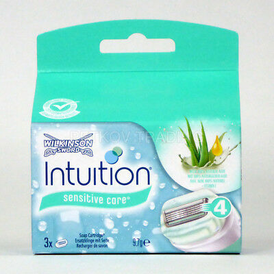 6x Wilkinson Sword Intuition Naturals Sensitive Care Rasierklingen
