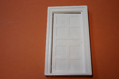 Dolls House Woodgrain Door White Plastic 1/16 Scale Dollshouse Door