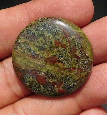 54Cts 100% Natural Fantastic Dragon Blood Stone 32X32X5 mm Cabochon Gemstone