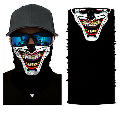 Insidious Black Face Shield Sun Mask Balaclava Neck Gaiter Neckerchief Buff New