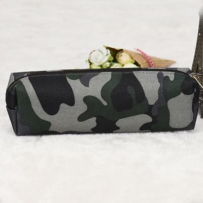 4 Colors Camouflage Pen Bag Pencil Case Pouch Stationery Cosmetic Makeup Bag UK