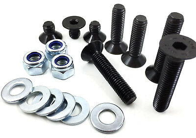 M3 M4 M5 M6 M8 Black Socket Countersunk High Tensile Bolt Zinc Nyloc Nuts Washer
