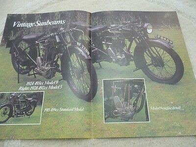 Sunbeam model 9 (& Norton 16H) technical & historical articles-now 3 items!