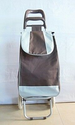 1X New Coffee Convenient Shopping Trolley Bag