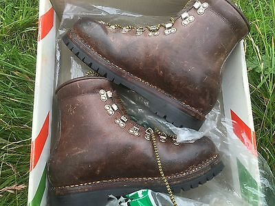 scarpa vacchetta size 41 vintage leather boxed Mountain Boots Asolo