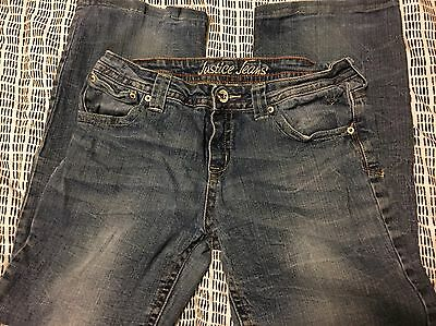 Girl's Justice Jeans 14 1/2  Cute!