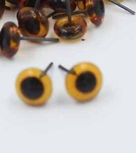 10 Pairs of eyes for needle felting Black  2mm 3mm 4mm 5mm + Amber  4mm  5mm