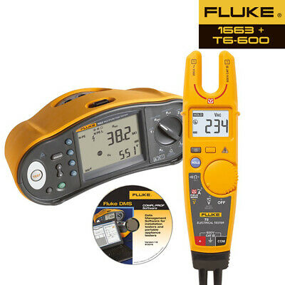 Calibrated Fluke 1663 Multifunction Installation Tester - Improved 1653B