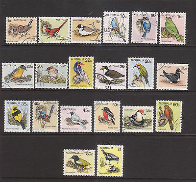 Australia 1978-80 Birds Fine used  collection 20 stamps.