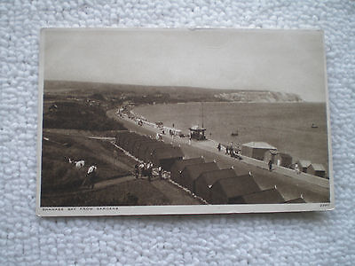 Postcard Swanage Bay From Gardens Solagraph 2290