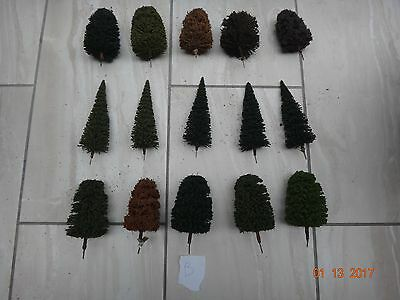 Lots Of Model Railway Scenery Layout Trees  Ho/oo Gauge           B